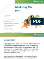 2011 B2B Marketing Mix Survey Results