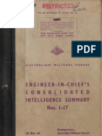 Engineer in Chief's Intelligence Summary Nos 1 - 17 (May 1944)