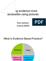 Making Evidence More Accessible Using Pictures Rod Jackson 2009
