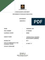 MB0053 - International Business Management - Set 1