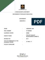 PM0017 - Project Quality Management - Set 1