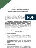 AGENDA DE TRABAJO MESA POLITICA Y SOCIAL POR LA REFORMA DE LA EDUCACIýýN EN CHILE -1-.