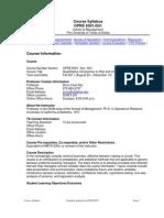 UT Dallas Syllabus for opre6301.0g1.11f taught by Shun-Chen Niu (scniu)
