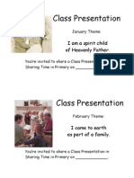 Class Presentation Reminders 2009