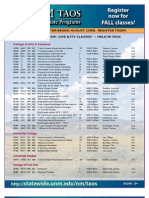UNM Taos Schedule Fall-2011