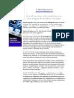 PDF Gratuito - Los 15 errores más comunes en estrategias de medios sociales