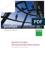 Driving Sustainable Value Creation_2011