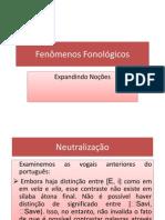 fenômenos fonológicos