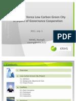 Dr Wang Kwangik_The Case of Korea Low Carbon Green City