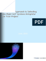 Ten Step Approach to Selecting the Right SAP Systems Integrator for Your Project