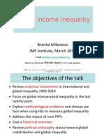 Global Income Inequality IMF 2010