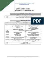 Programa para o 5º Estágio do NAFLS - Fut 11 e Futsal- unico