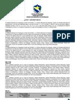 RETIFICAÇÃO N° 003 AO EDITAL 003-2011