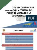 PROY L. ORG. REGULACIÓN Y CONTROL PODER MERCADO y COMPETENCIA