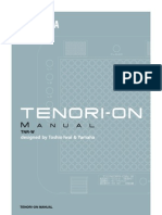 Tenori on Manual