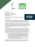 Save The River Thousand Islands Land Trust  Cape Vincent DEIS Comments 6/14/07