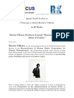 """Speak Truth To Power Series in KI-Media - Martin O'Brien (Northern Ireland) """"Human Rights in the Midst of Conflict"""""""