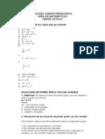 Taller Factorizacion y Ecuaciones