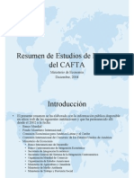 Resumen de Estudios de Impacto Del CAFTA V