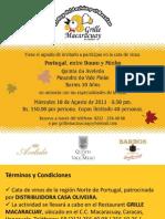 Cata de Vinos PORTUGAL, ENTRE DOURO Y MINHO