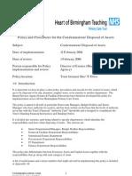 Hob Policies Disposal of Assets