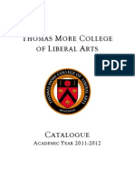 Thomas More College 2011-2012 Catalogue