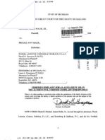 Michael J. Malik vs Brooke A. Malik - Divorce Complaint