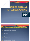 Effective Speaking and Presentation Skills