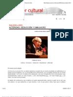 BAUDRILLARD; ALTERIDAD, SEDUCCIÓN Y SIMULACRO POR ADOLFO VÁSQUEZ ROCCA PH.D.