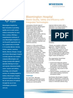 Bloomington Hospital Boosts Quality, Safety and Efficiency with Integrated Technologies