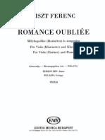 Romance Oubliée de Liszt Para Viola y Piano