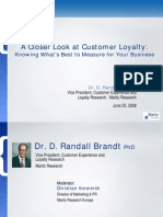 A Closer Look at Customer Loyalty - Knowing What's Best to Measure for Your Business