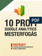 10 Google Analytics Mesterfogas