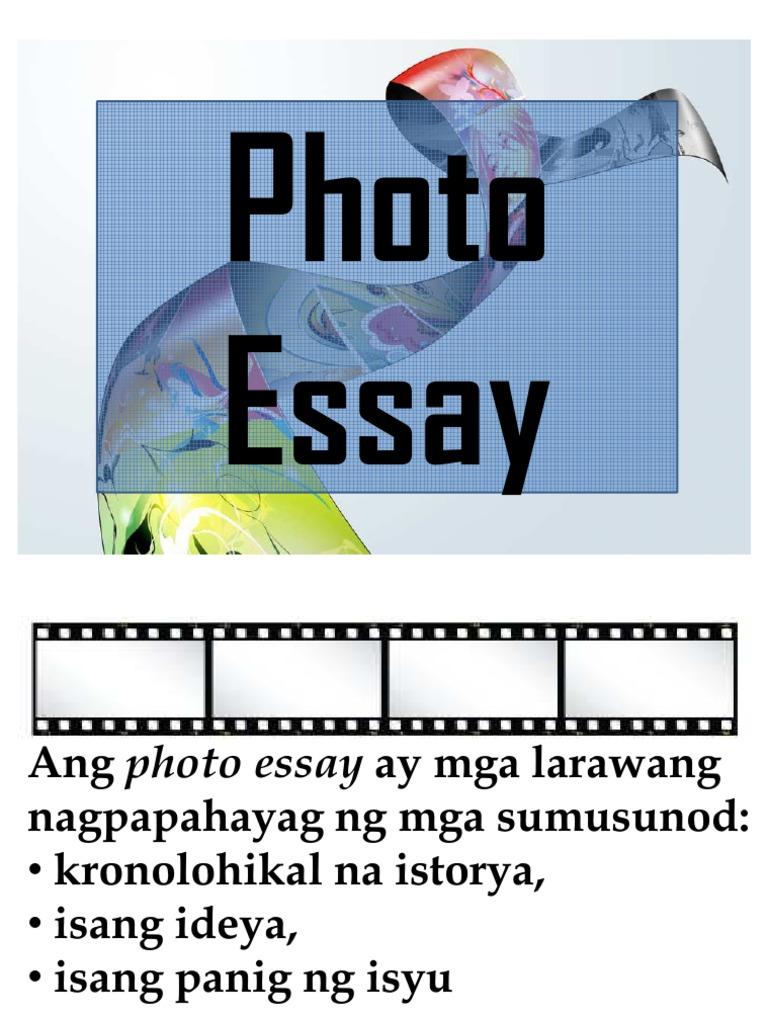 photo essay o salaysay ng larawan