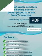 Вопросы взаимодействия с общественностью при продвижении ядерно-энергетических проектов в «новых» странах