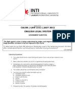 Assignment -Law1311 (July 2011)