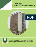 Mpa 708 Comparative Public Administration