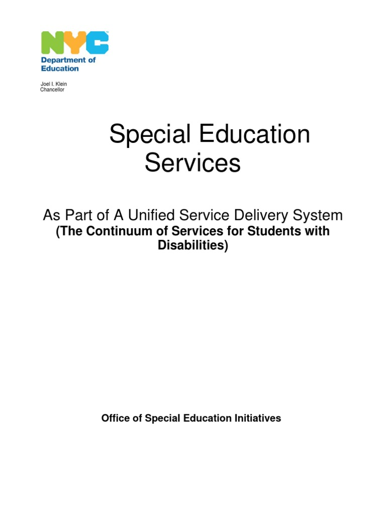 Continuum of Services | Individualized Education Program | Special Education