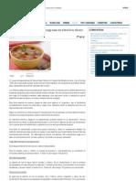 La Dieta de La Sopa Quemagrasa Es Efectiva Dicen Expertos