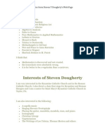 Notes form Steven T Doughrty's Web Page