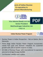 Перспективы индийско-российского сотрудничества в производстве оборудования