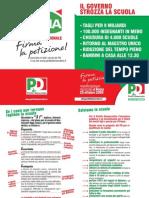 Salva l'Italia. Volantino scuola 2008 settembre