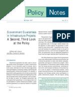 Govt Guarantees in Infra Projs Pidspn9711