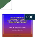 15. EDUCACION INTEGRAL + ANTROPOLOGIA, ETICA Y VALORES