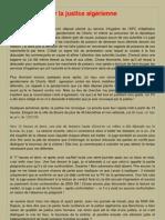 Témoignage sur la justice algérienne