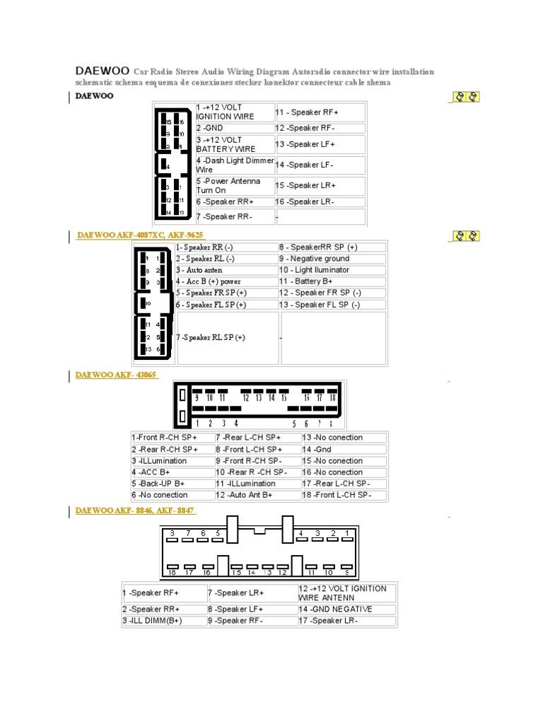 Daewoo Wiring Diagram Radio Explore Schematic Gm Aftermarket Stereo 16 Car Audio Rh Scribd Com