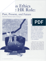 Business Ethics and HR Role