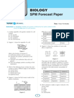 Biology SPM Forecast Papers