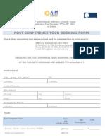 Post Congress Tour Booking Form ABAI