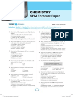 Chemistry SPM Forecast Papers